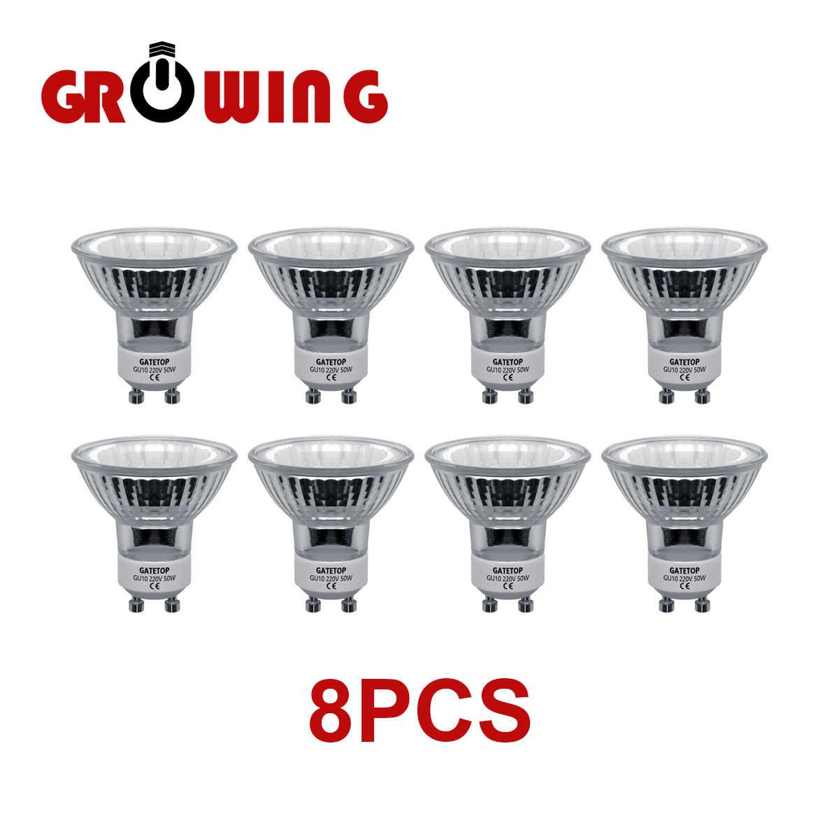 ZMISHIBO 12Pcs/Lot Halogen GU12 Bulb 12V 12W 12W Diameter 12MM MR12 Clear  Glass With Cover Dimmable Warm White 12K Spot Lamp