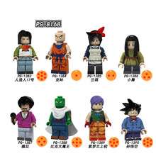 PG8168 Single Sale Education Sun Wukong Figures Series Android 17 Action Building Blocks Bricks For Children Best Gift Toys loz mcdonald s hamburg food sushi nanoblocks 3d diy building blocks bricks action figures education kids toys gift decoration