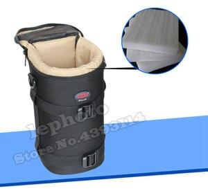 Image 5 - Kalın güçlü naylon yastıklı kamera su geçirmez Lens çantası çantası koruyun kılıf kemer Canon Nikon SONY için Sigma lensler