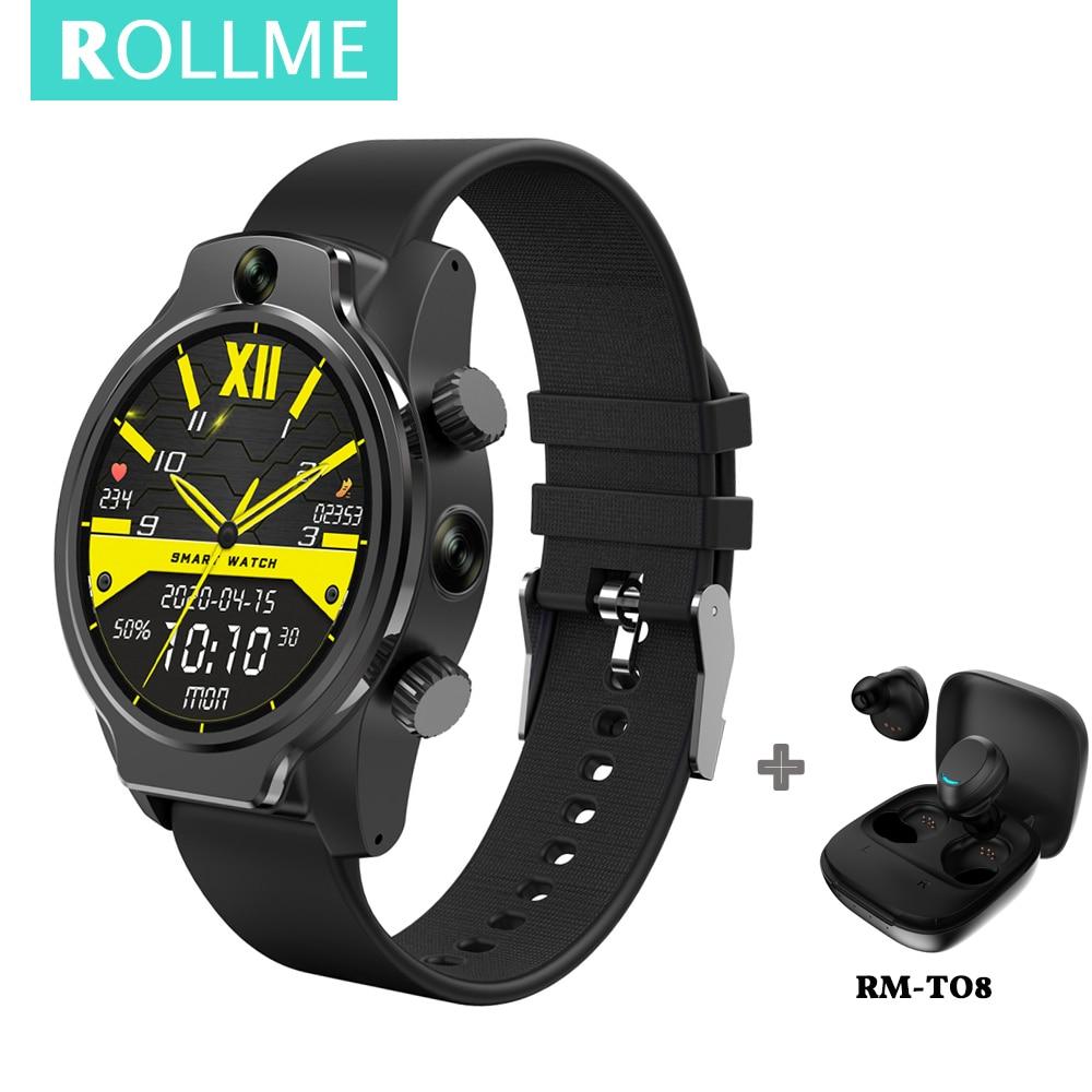 "RollME S08 Face ID IP68 Smart Watch 50M Waterproof 8MP Camera 4G LTE Bands GPS Glonass 1.69 ""IPS 1360mAh Battery Smartwatch"
