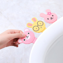 Cartoon Cover Lifter Toilet Seat Handle Bathroom Lid Cover Toilet Bowl Seat Lift Handle Bathroom Toilet Seat Holder Accessories round bathroom adult toilet seat with built in child potty training seat elongated white toilet seat cover bathroom accessories