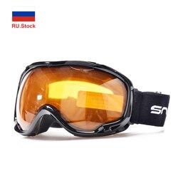 Górskie gogle narciarskie przeciwmgielne UV400 okulary narciarskie okulary podwójna warstwa skuter śnieżny Snowboard Sport zimowy