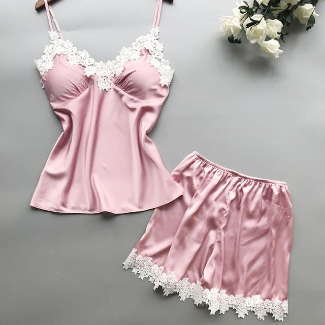 Casual Short Nightwear Underwear Babydoll Short  Set