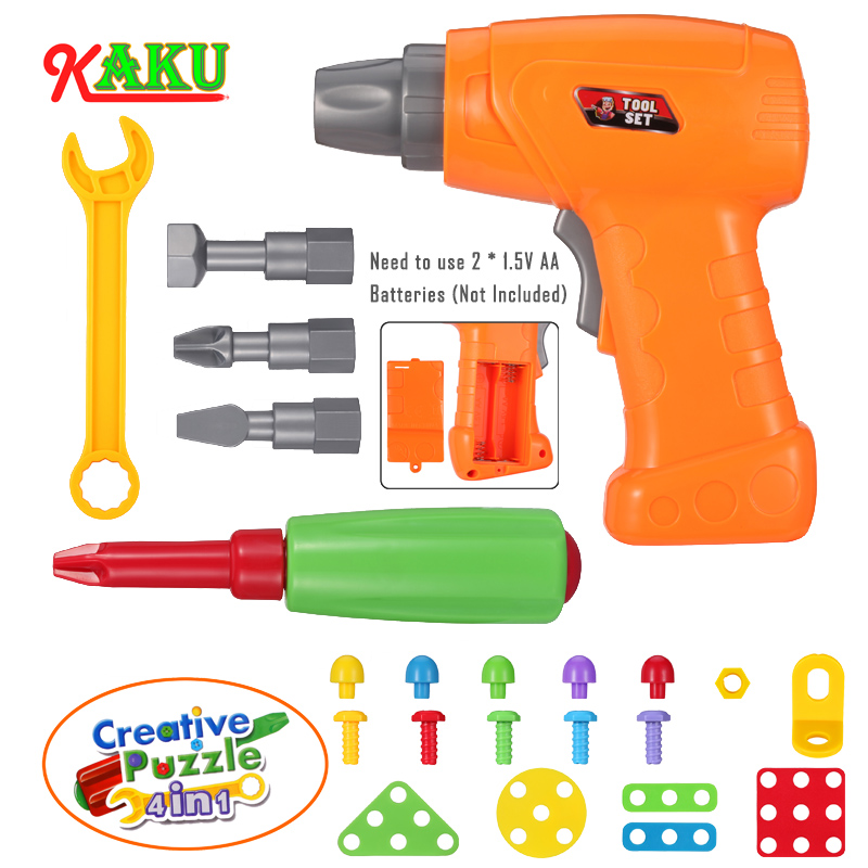 DIY Toys For Children/Boys/Girls/Baby Electric Drill Screw Nut Disassembly Creative Puzzle Toys Accessories Kids Building Bricks