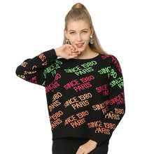 Женские свитера в стиле Харадзюку с круглым вырезом на осень