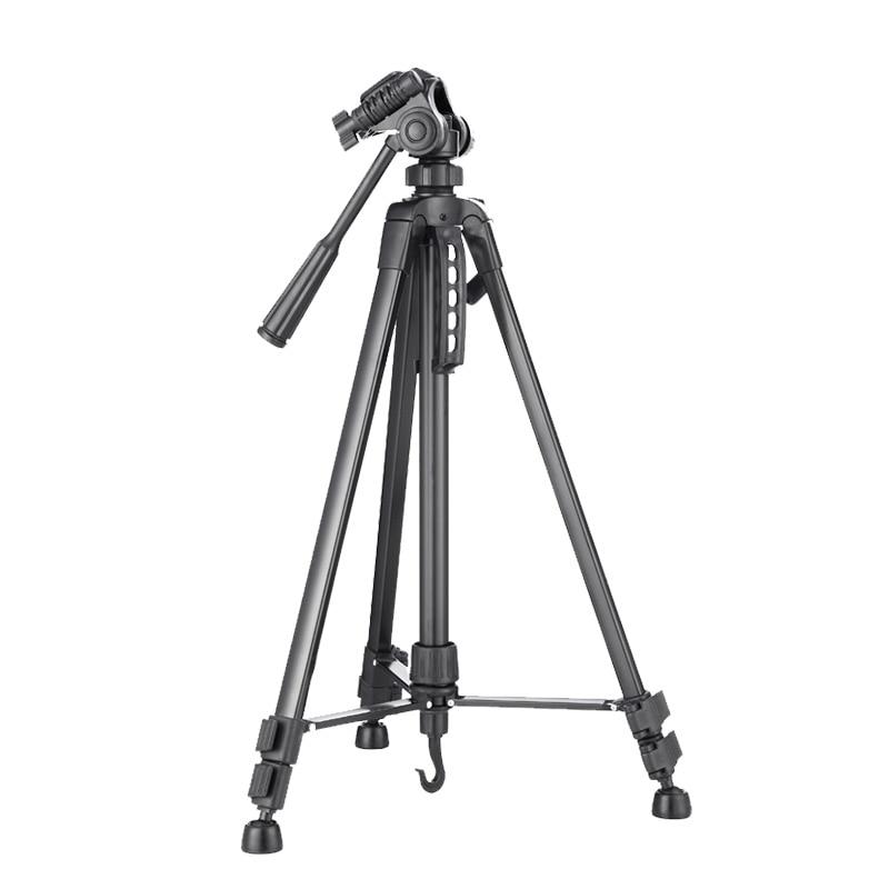 Meking novo 140cm 55 polegada profissional tripé suporte para câmera filmadora WF-3520 preto tripe tripé extensor para foto