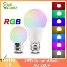 Led bulb rgb lamp A60 G45 E27 led bulb 3W 7W Led lamp Colorful led light SMD 2835 220V Flashlight e27 led globe bulbs for home эра f led a60 e27 7w 220v 2700k