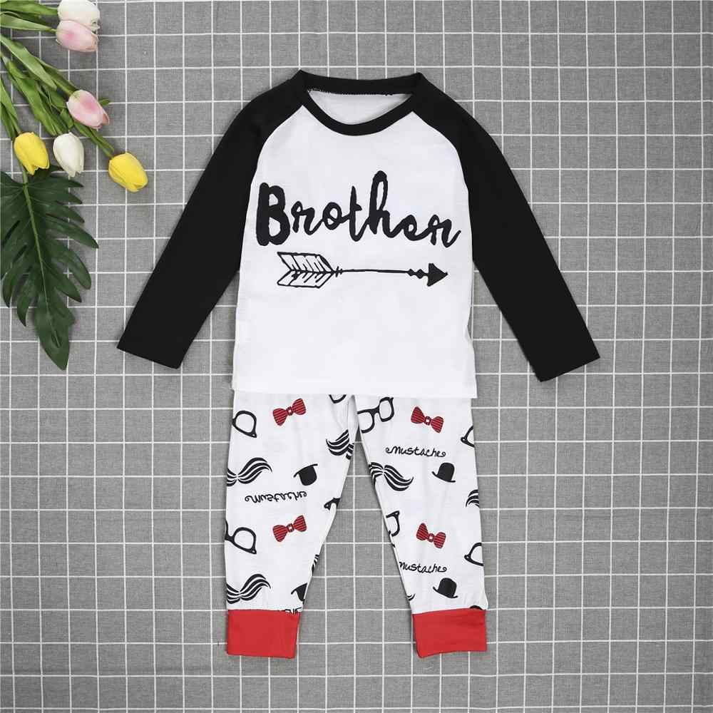 2019 Matching Family Christmas Boys Girls Pajamas Letter Arrow Bbaby Kids Sleepwear Children Clothes