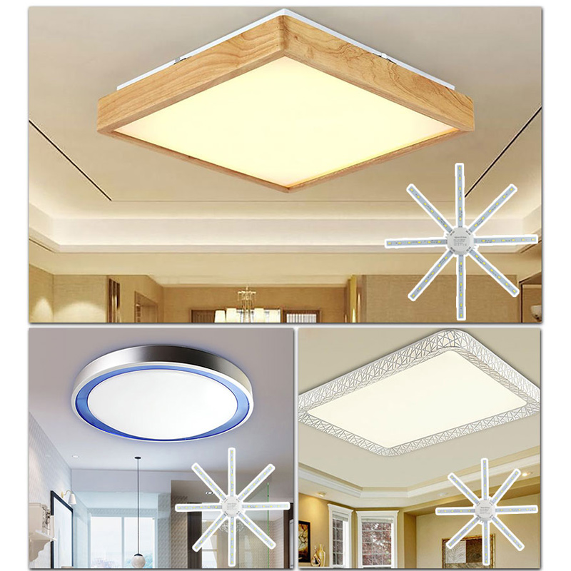 12W 16W 20W 24W Led Downlight Accessory Octopus Magnetic plate Ring Light Led Lamp 220V For Ceiling Lamp Absorb dome Replace 4