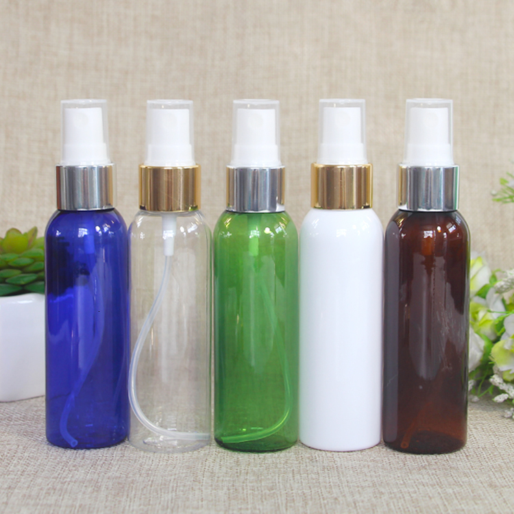 100 pcs 60ml Gold And Silver Spray Fine Mist Water Split On perfume Bottle parfum empty cosmetic containers packaging - 5