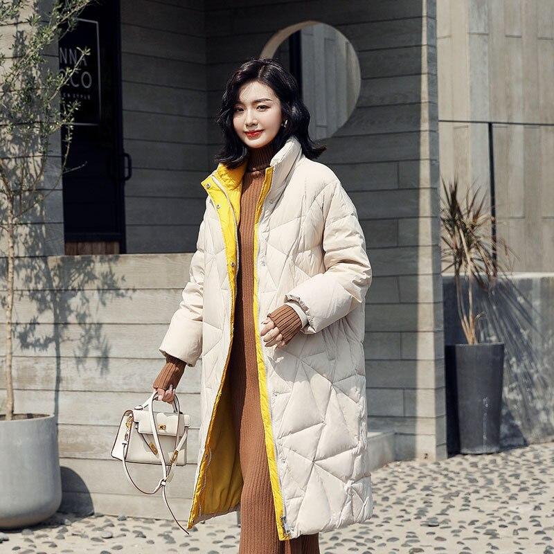 White Women Jacket Duck Down Coat Winter Down Jacket Women Jacket Korean Puffer Jacket Casaco 198020 YY1258
