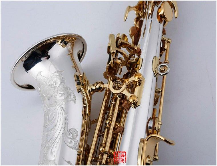 Image 3 - BULUKE    Curved Soprano Saxophone 9937 Nickel Silver Brass Sax Mouthpiece Patches Pads Reeds Bend NeckSaxophone   -