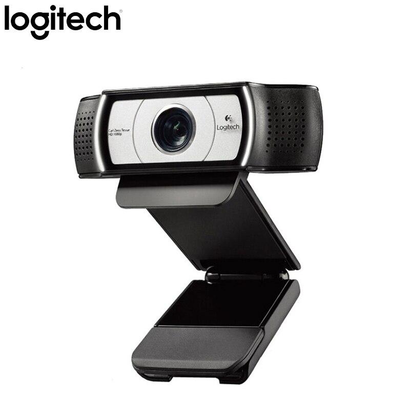 Logitech C930C HD1080 USB Caméra Garle Zeiss Certification Webcam 4 Temps Zoom Numérique Soutien Vérification Officielle pour PC