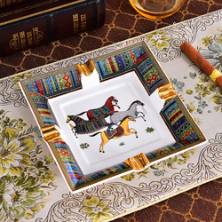 Cigars Ashtrays Home Table Decor Classic Patterns Porcelain Three Size Desk Accessories Gift For Boyfriend Large Size
