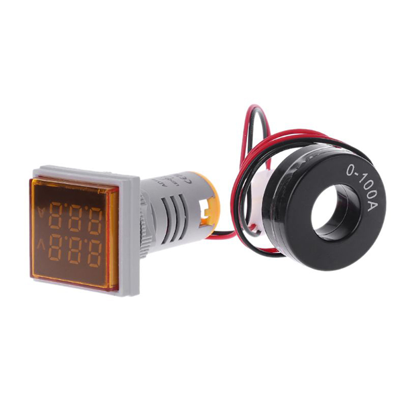 AC 60-500V 0-100A D18 Square LED Digital Dual Display Voltmeter Ammeter Voltage Gauge Current Meter Led Modules Accessory