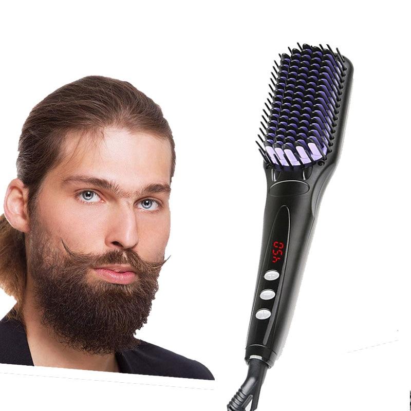 Men's Beard Styler Electric Hair Straightener Combs Anti Static Straighten Curly Hair Quick Hair Styling Iron Beard Accessories