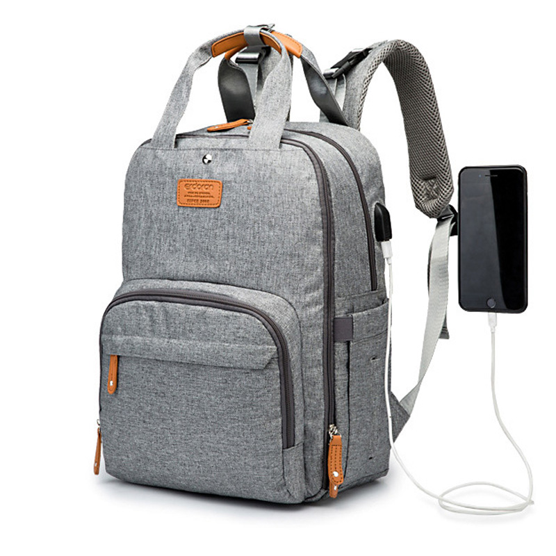 2020 Diaper Bag Backpack Multifunction Travel Back Pack Maternity Baby Changing Bags Large Capacity Waterproof And Stylish Gray