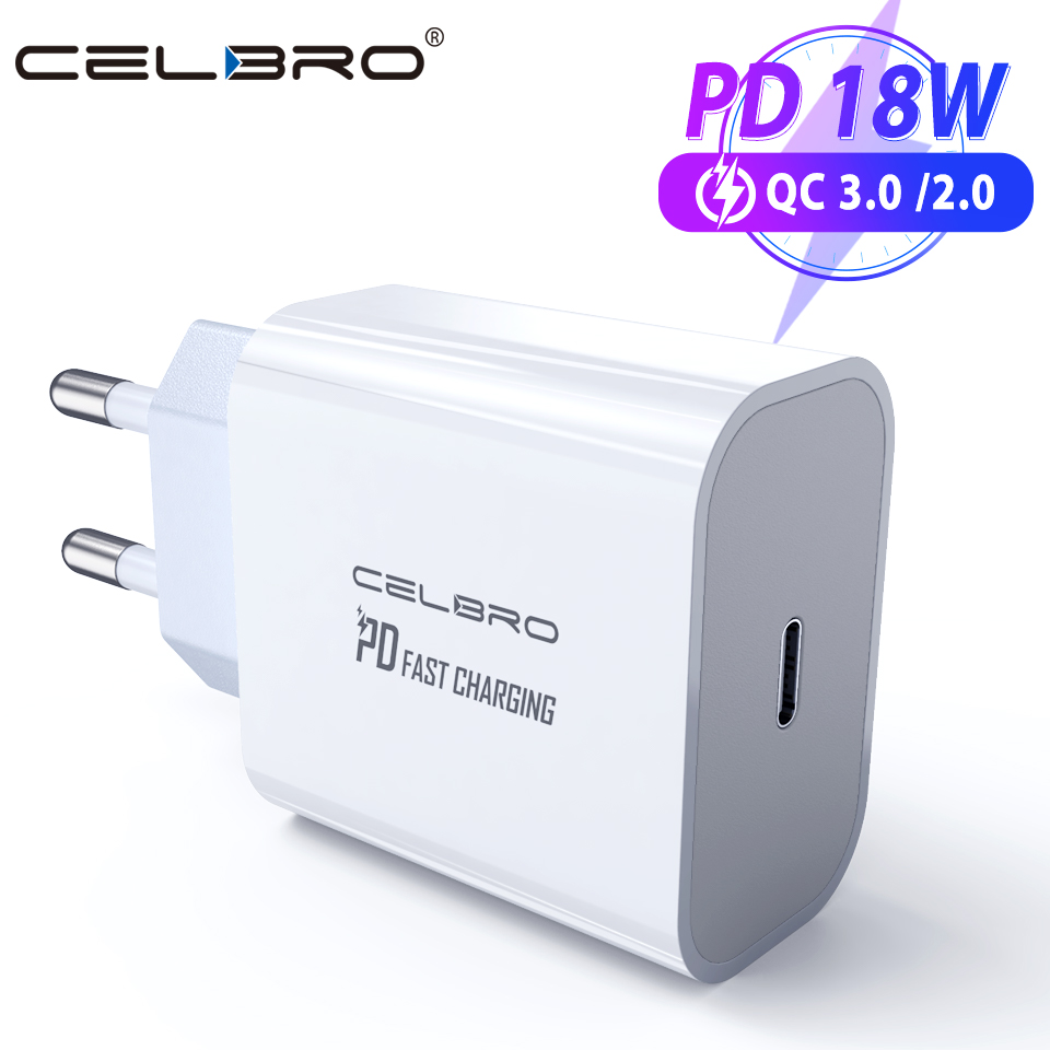 18W PD USB Type C Quick Charger Adapter For iPhone 12 11 Pro XR Xs Samsung S20 Fast Charging EU US Plug Travel PD Power Adapter(China)