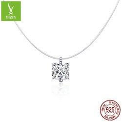 Collar de hilo de pesca con circonita oculta de nuevo estilo Origional zi yun de plata ren yu lei, collar de circonio de fiesta en oferta Scn332-s