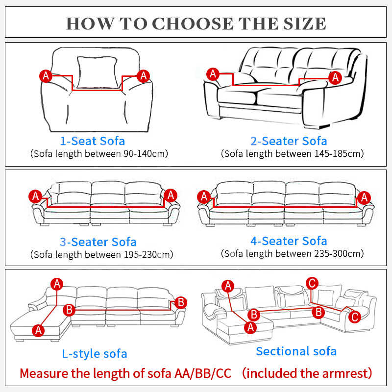 Funda de sofá en forma de L funda de cojín de sofá cubierta de sofá para sala de estar combinación sofá decoración cubierta individual/doble/tres