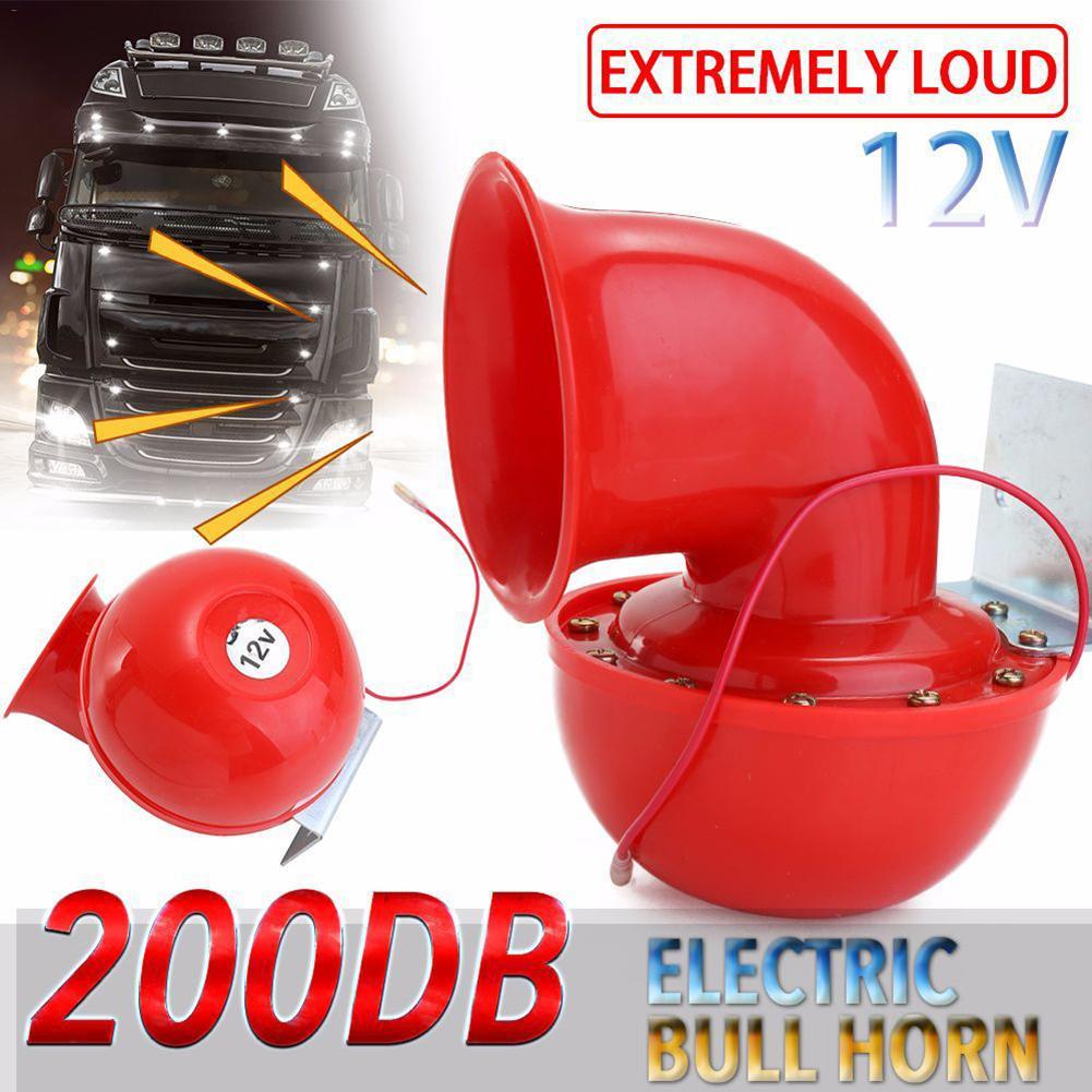 12V Громкий звуковой сигнал Автомобильная сирена динамик для грузовика мотоцикла ATV налет сирены небольшой Электрический звуковой сигнал красный