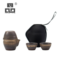 Tangpin japonês cerâmica bules gaiwan com 3 copos um chá conjuntos de viagem portátil kung fu conjunto chá drinkware Jogos de chá     -