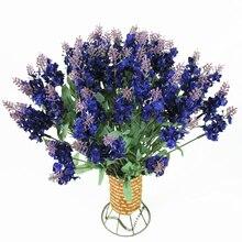 1PC Heads Artificial Lavender Home Decoration Accessories Silk Flower For Bouquets Wedding Decor Bouquet Mini Lavende