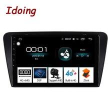 """Idoing 10.2 """"IPS 2.5D 4GB + 64GB 1Din Android oto araba radyo multimedya GPS oynatıcı Skoda octavia 2017 8 çekirdekli hızlı önyükleme NoDVD"""