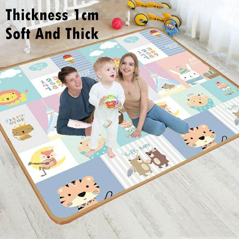 A espessura 1cm caçoa o tapete que desenvolve a esteira do jogo do bebê da espuma de eva brinca para crianças a esteira playmat quebra-cabeças tapetes no jogo do berçário