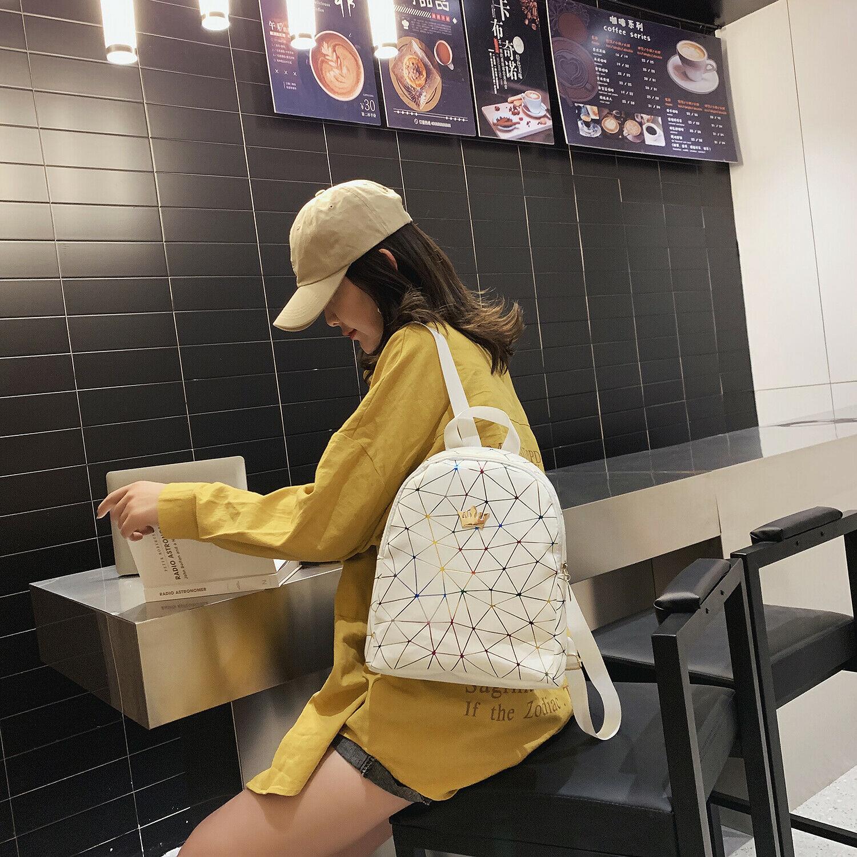 Mini Backpack Women PU Leather Shoulder Bag For Teenage Girls Children Multi-Function Small Bagpack Female School Bag Backpack