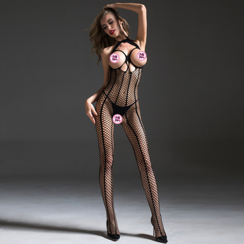 Lencería Sexy para mujer, sujetador abierto erótico, Lenceria Femenina, Babydoll de peluche, ropa interior, body, disfraces sexuales, Media corporal sin entrepierna
