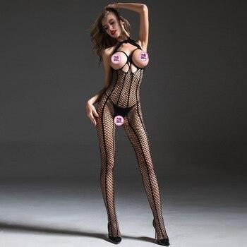 Women Sexy Lingerie Hot Open Bra Erotic Lenceria Femenina Teddy Babydoll Underwear Bodysuit Sex Costumes Crotchless Bodystocking - discount item  10% OFF Exotic Apparel