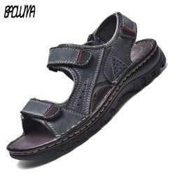 Modne męskie sandały gladiatorki letnie odkryte wygodne męskie sandały ręcznie męskie sandały plażowe miękkie dno męskie sandały 48|Sandały męskie|   -