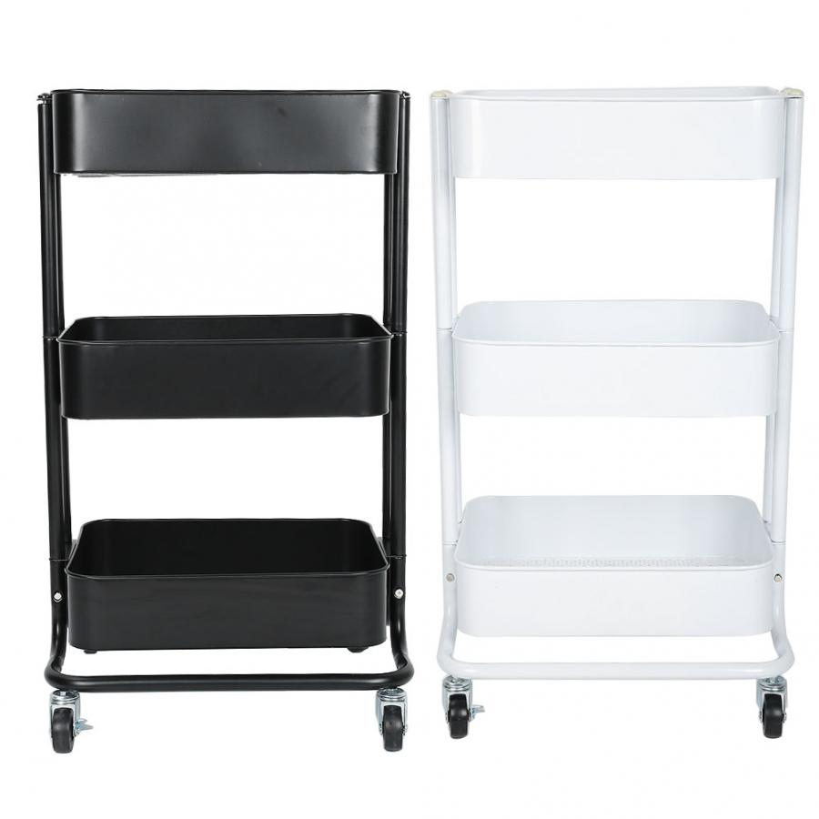 Hair Salon 3 Tiers Trolley Cart Slim Rolling Storage Rack Trolley With Wheels
