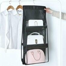 6 карманная подвесная сумка-Органайзер для гардероба, прозрачная сумка для хранения, дверная настенная прозрачная сумка для обуви, принадлежности для хранения