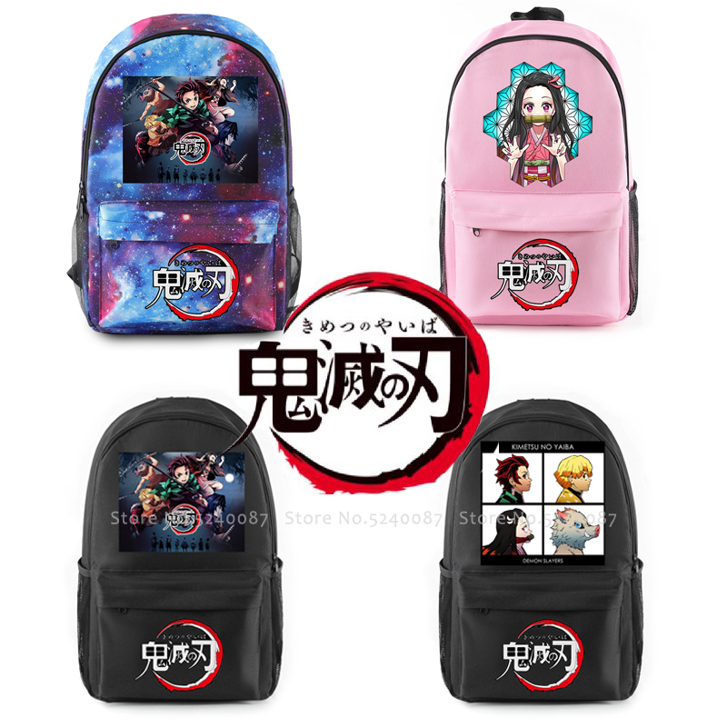 Anime Backpack Demon Slayer Kimetsu No Yaiba Knapsack Cosplay Costumes Kamado Tanjirou Nezuko Agatsuma Zenitsu School Bag Props