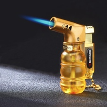 Visible Gas Spray Gun Cigar Cigarettes Lighter Gadgets For Men Electronic Torch  Turbo Lighters Smoking Accessories/Gas