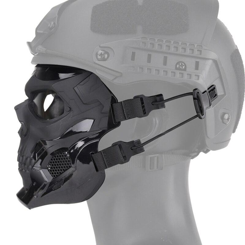Rosto assustador crânio forma impacto resistente (tático)