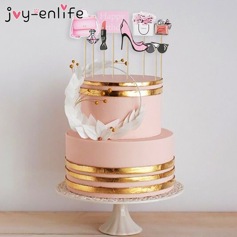 Marvelous 1Set Wedding Cake Topper Flower Car Perfume Wedding Decorations Funny Birthday Cards Online Necthendildamsfinfo