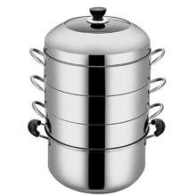 Пароварка с двойным котлом 26-34 см, паровой горшок из нержавеющей стали, сгущенный, 2-4 слоя, пароварка, индукционная плита, пароварка, домашний суповый горшок
