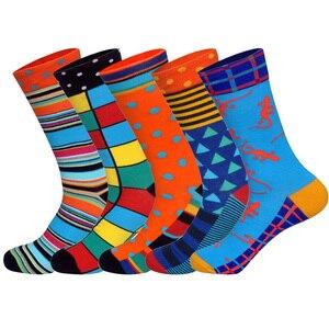 Image 4 - Lionzone 5 Paren/partij Merk Mannen Sokken 60 Kleuren 12 Selecteert Britse Stijl Streetwear Designer Gelukkig Sokken Grappig Met Geschenkdoos