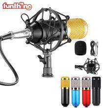 BM800 Condenser Microphone Professional Voice Recording Microphone Kit: Shock Mount+Foam Cap+Cable As BM800 Recording Microphone