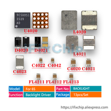 13 шт./компл. задняя светильник ic U4020+ катушка L4020 L4021+ диод D4020 D4021+ конденсатор с алюминиевой крышкой, C4023 C4022 C4020+ фильтр FL4211 FL4212 FL4213 для iphone 6s светодиодный задний светильник драйвер