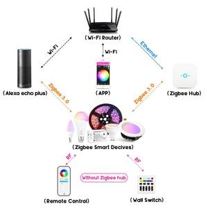Image 2 - جلودوبتو زيجبي لمبة LED ذكية 2 حزمة اللون تغيير RGBCCT E27 E26 6 واط ضوء لمبة متوافق مع الأمازون صدى زائد اليكسا محور
