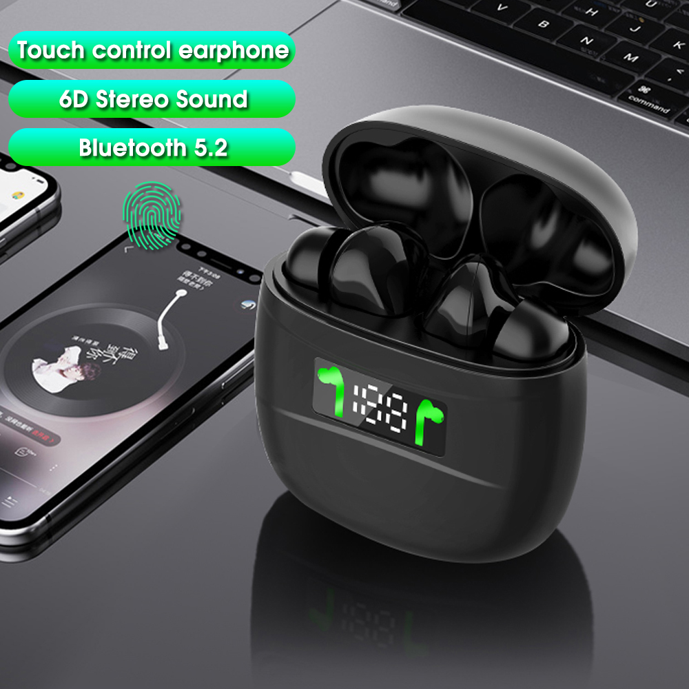 <font><b>TWS</b></font> Bluetooth Wireless Earphone Touch Control Earphones <font><b>6D</b></font> Stereo Headset Noise Cancelling Headphone with mic LED Charger box image