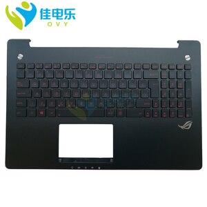 Teclado Do Laptop n550 G550JK n550jk n550jx n550ja n550jv G550J gl550jk gl550j CZ backlit Descanso de Mãos Top case 90NB04L3-R31CZ0