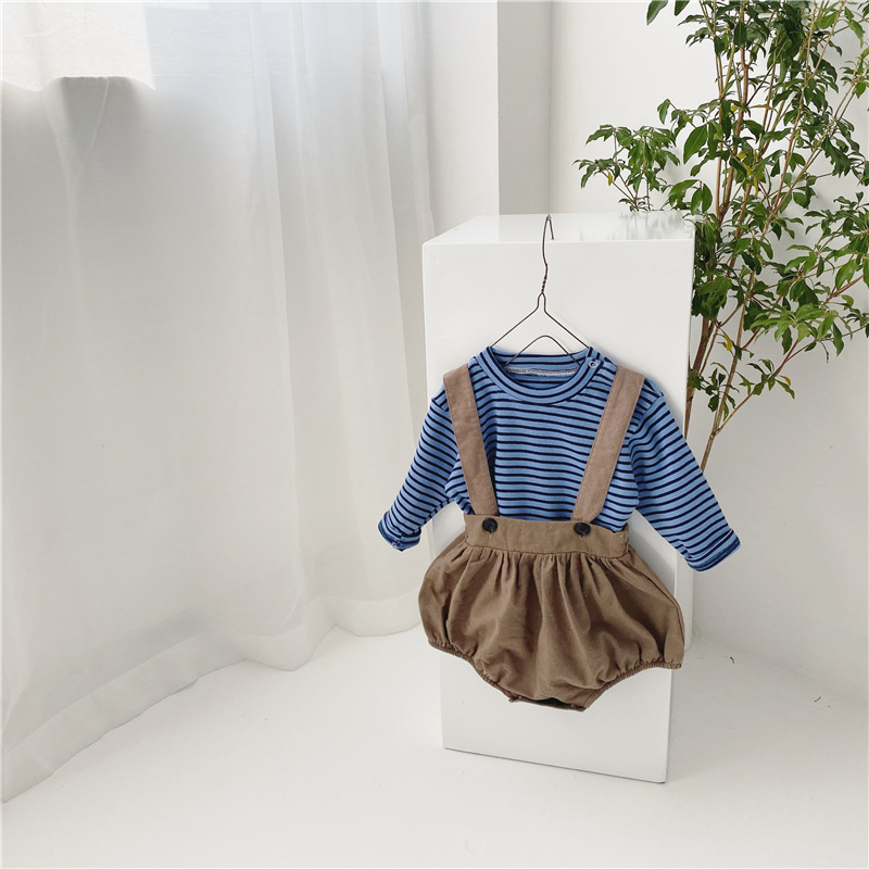 MILANCEL baby clothing set brother and sister clothes striped blouse and bodysuits infant girls boys clothes set