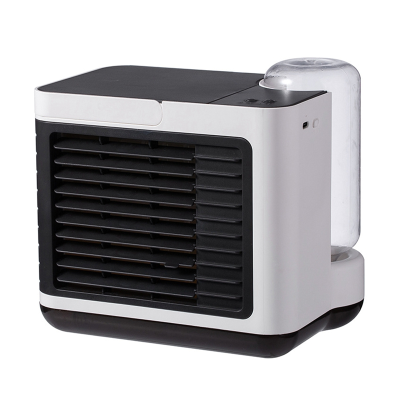 Personal Space Air Conditioner Fan USB Air Cooler Fan-2000MAh, Humidifier, Desktop Cooling Fan With Night Light