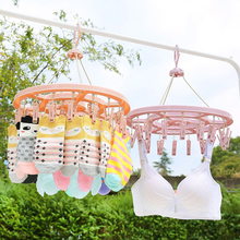 Buy Round Plastic Hanging Dryer 12 Clip Type Laundry Drying Rack Multifunctional Plastic Underwear Home Drying Rack Round Socks directly from merchant!
