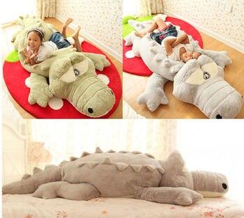 2019 Big Plush Crocodile Stuffed Animal Plush Soft Toy Cushion Pillow Cute Plush  Toys for Children Holiday Gift Plush Toys